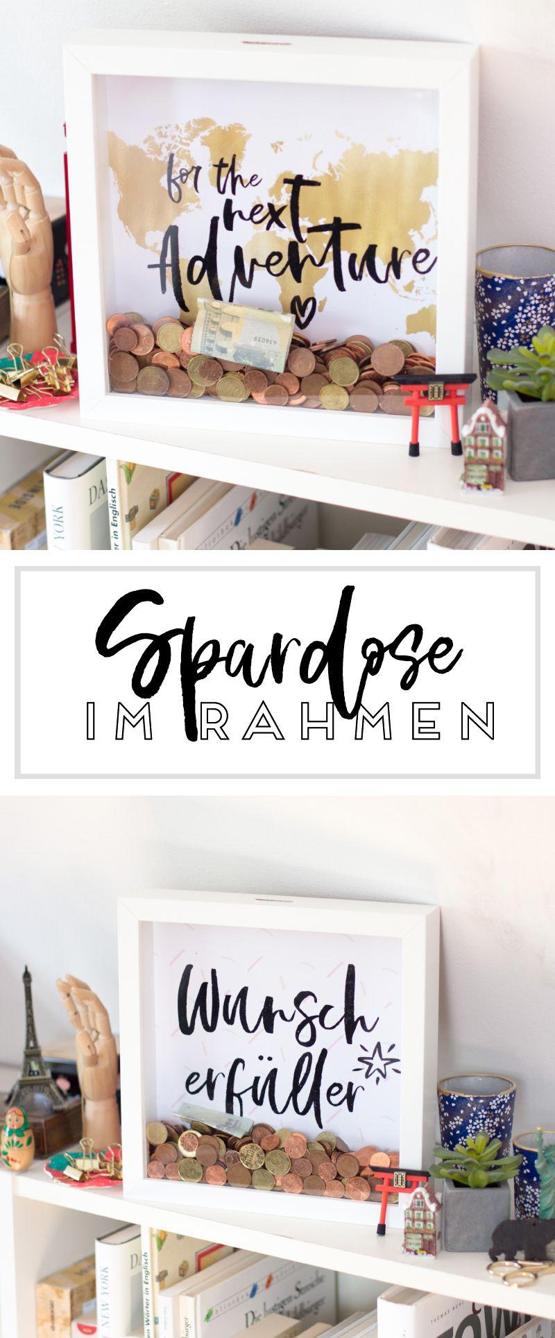 bilderrahmen spardose geschenkideen pinterest spardose bilderrahmen und geschenkideen. Black Bedroom Furniture Sets. Home Design Ideas