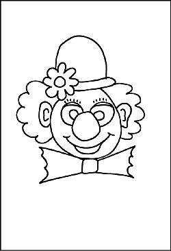 Ausmalbild Clown Vorlagen Zum Ausmalen