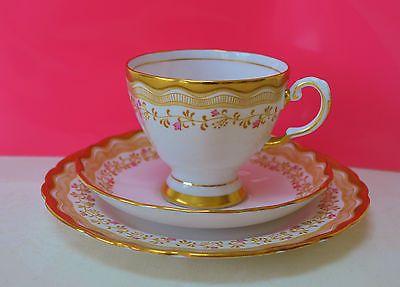 Vintage Royal Tuscan Fine Bone China Cup Saucer Plate Trio Tea Set