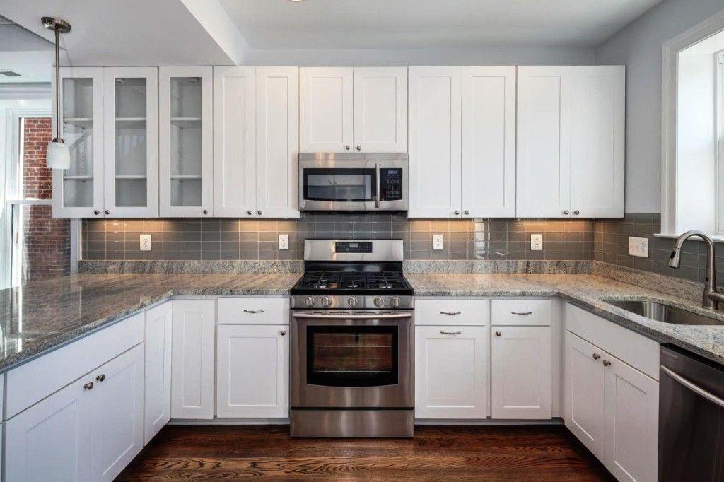 White Kitchen With Slate Appliances   Google Search