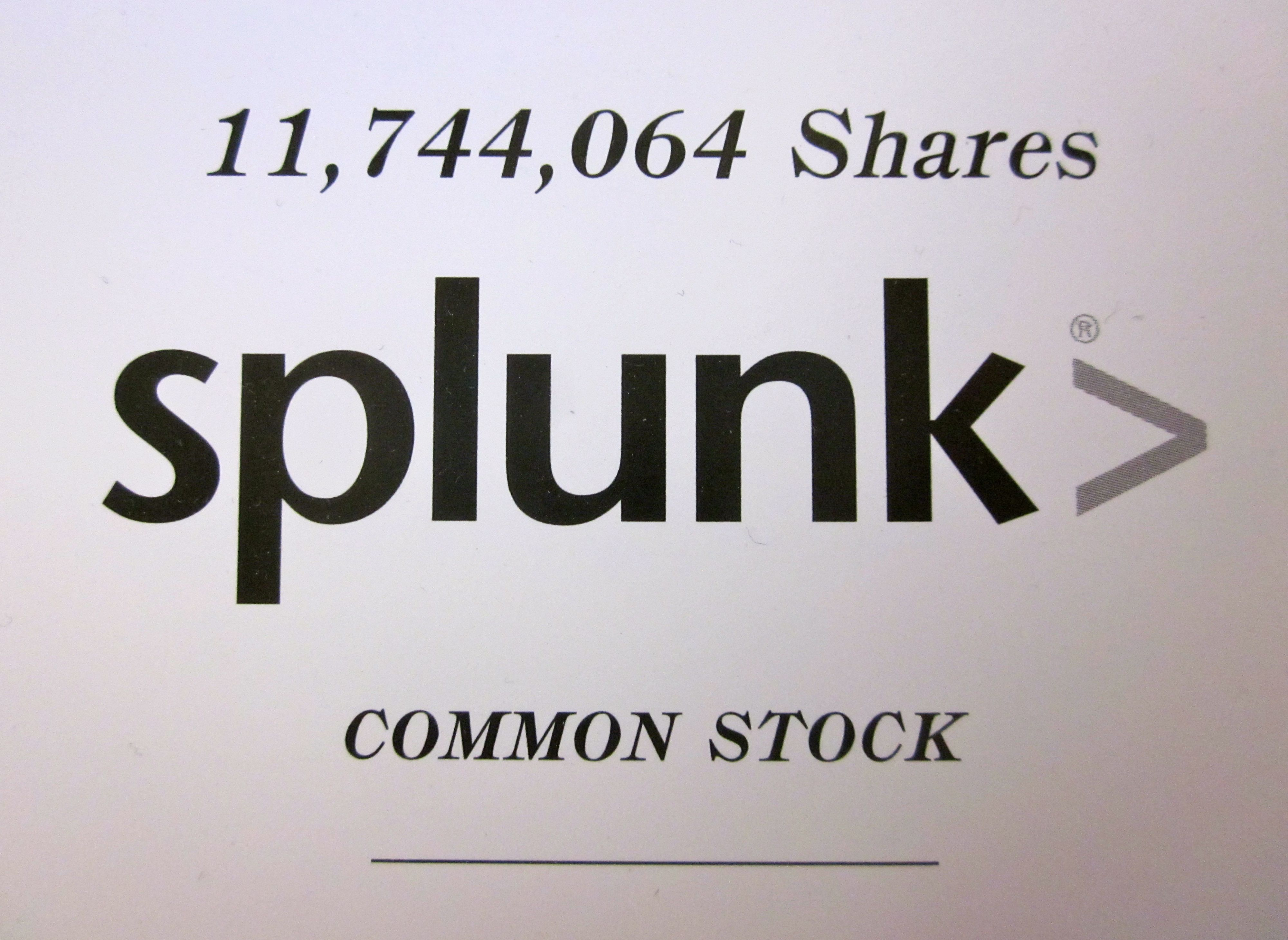 Splunk Prospectus, SPLK, Kingdom Ridge Capital, KRC, IPO