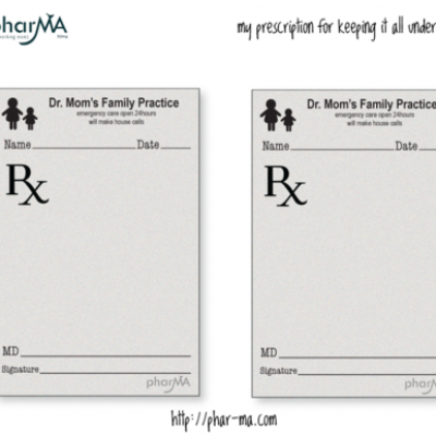 Dr mom 39 s prescription pad fun stuff pinterest free for Prescription pad template download