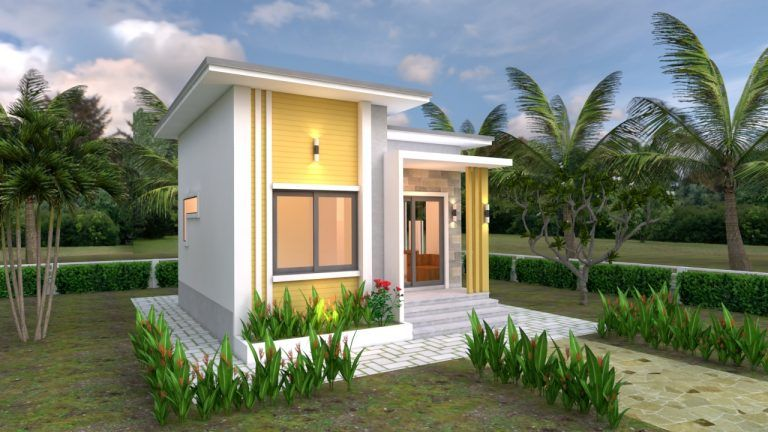 House Plans 6x6 With One Bedrooms Flat Roof House Plans S Small House Design Plans Small House Plans Small House Design