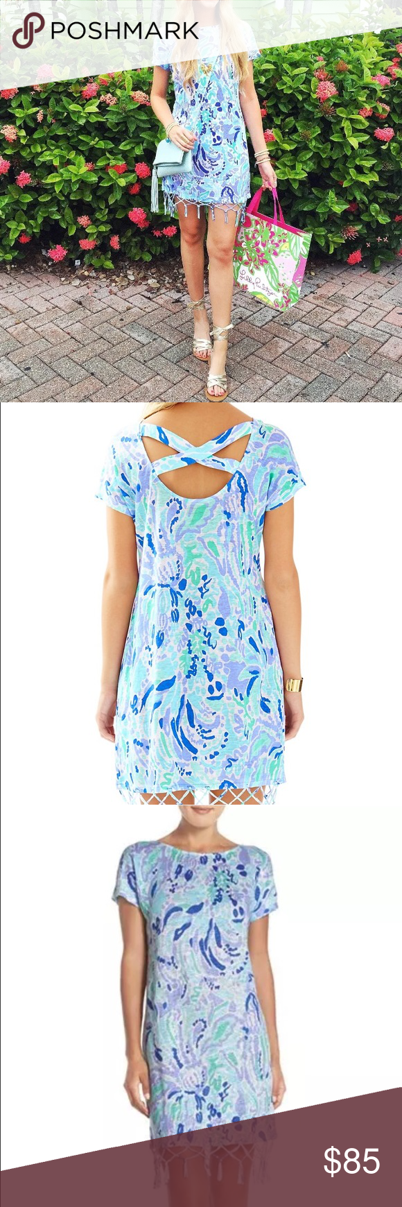 BNWT Lilly Pulitzer Beachcomber dress with fringe Brand new with tags. Retails $138 Lilly Pulitzer Dresses Mini