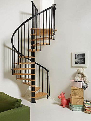 Arke Nice1 Wood Tread Spiral Staircase Kits