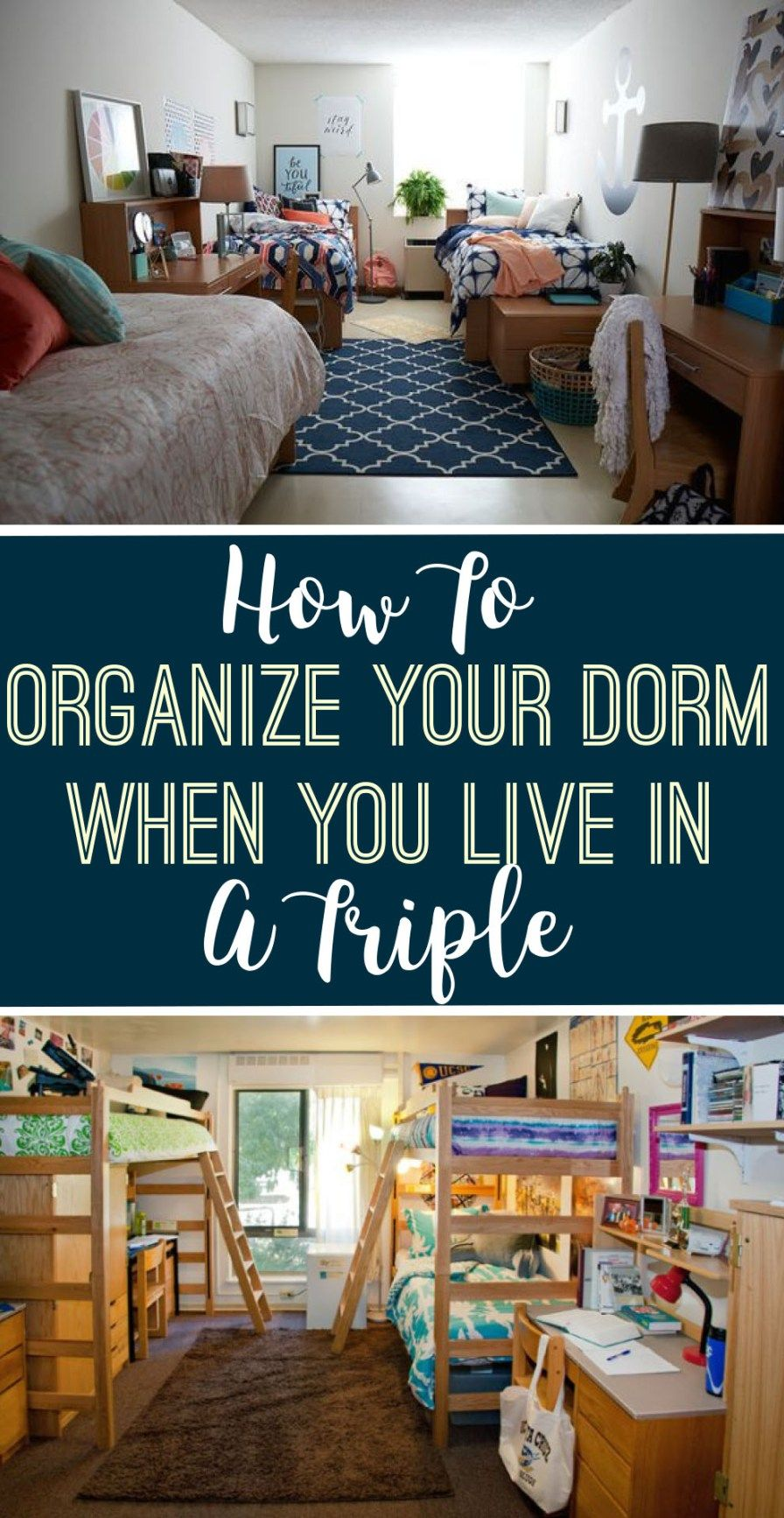 How To Organize Your Dorm When You Live In A Triple images