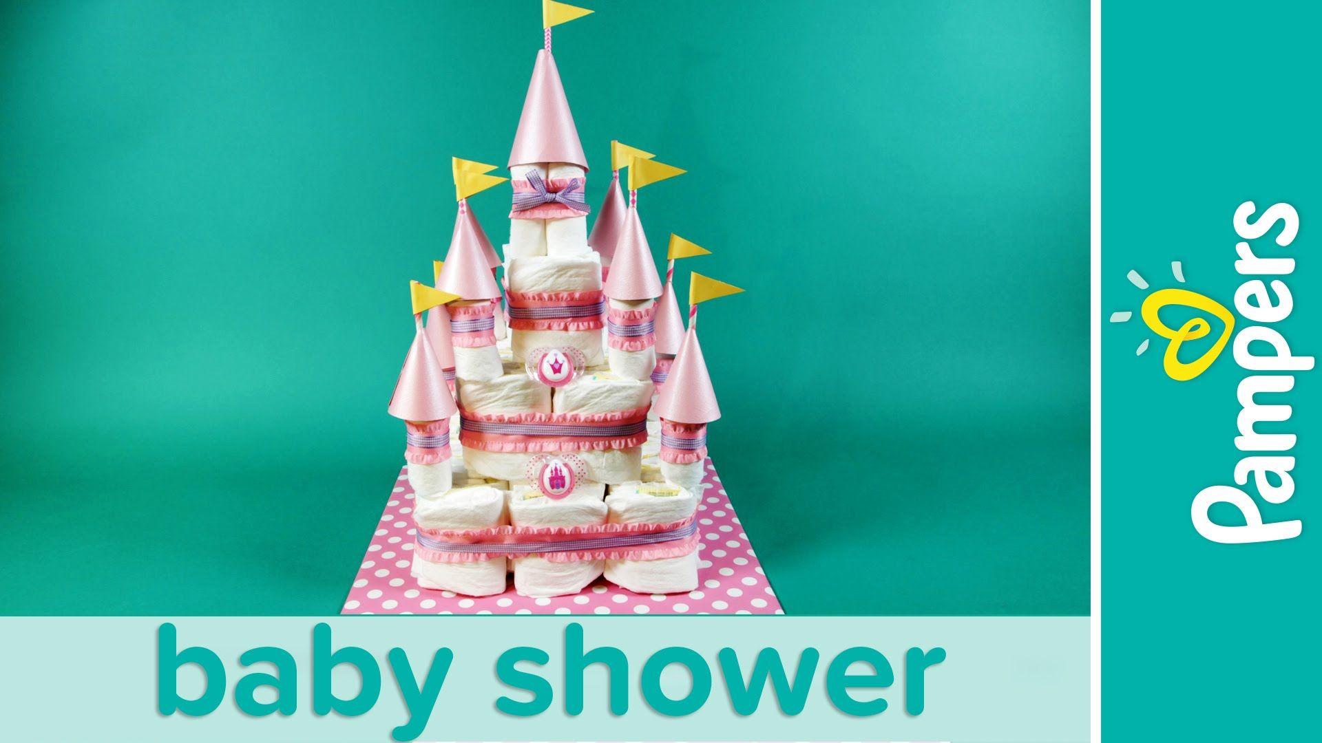 How To Make A Princess Castle Diaper Cake Baby Shower