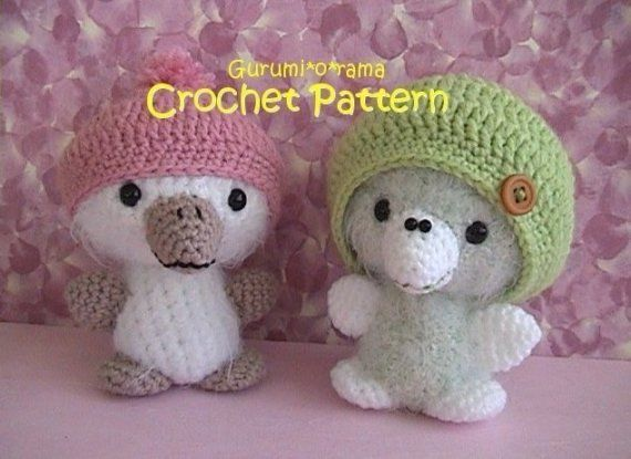 Amigurumi Bird Tutorial : Crochet fuzzy bird pattern amigurumi crochet toy chick stuffed