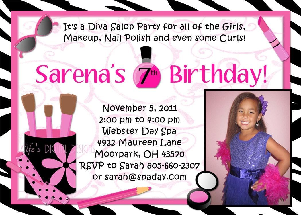 Spa Party Invitations Free 11th birthday party Pinterest Spa
