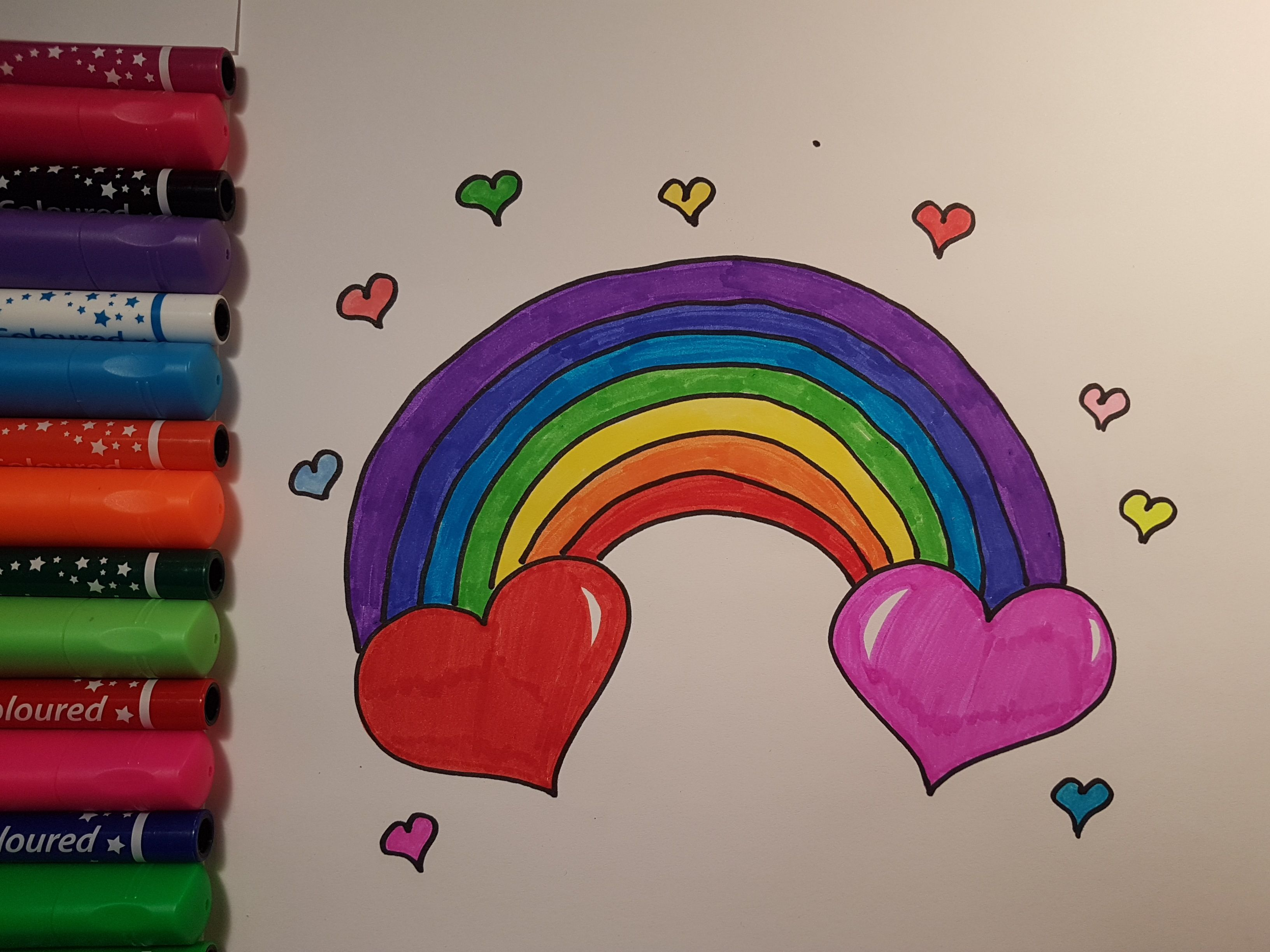 Aww This Is Cute Rainbow Heart How To Draw Cute Rainbow Heart