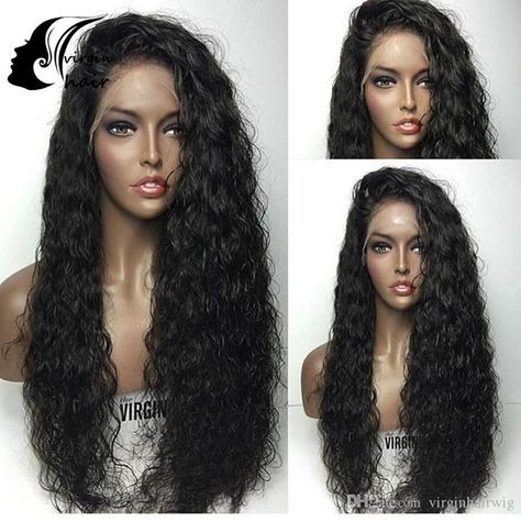 Unprocessed Wet Wavy Full Lace Wigs With