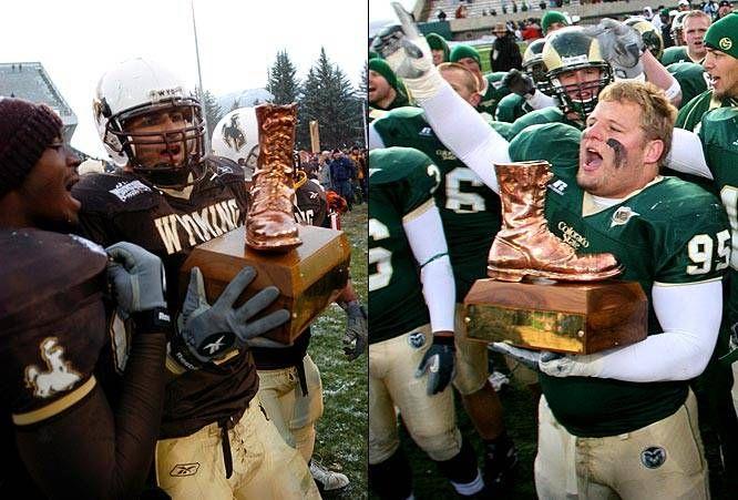 T Bronze Boot Wyoming Colorado State University Of Wyoming