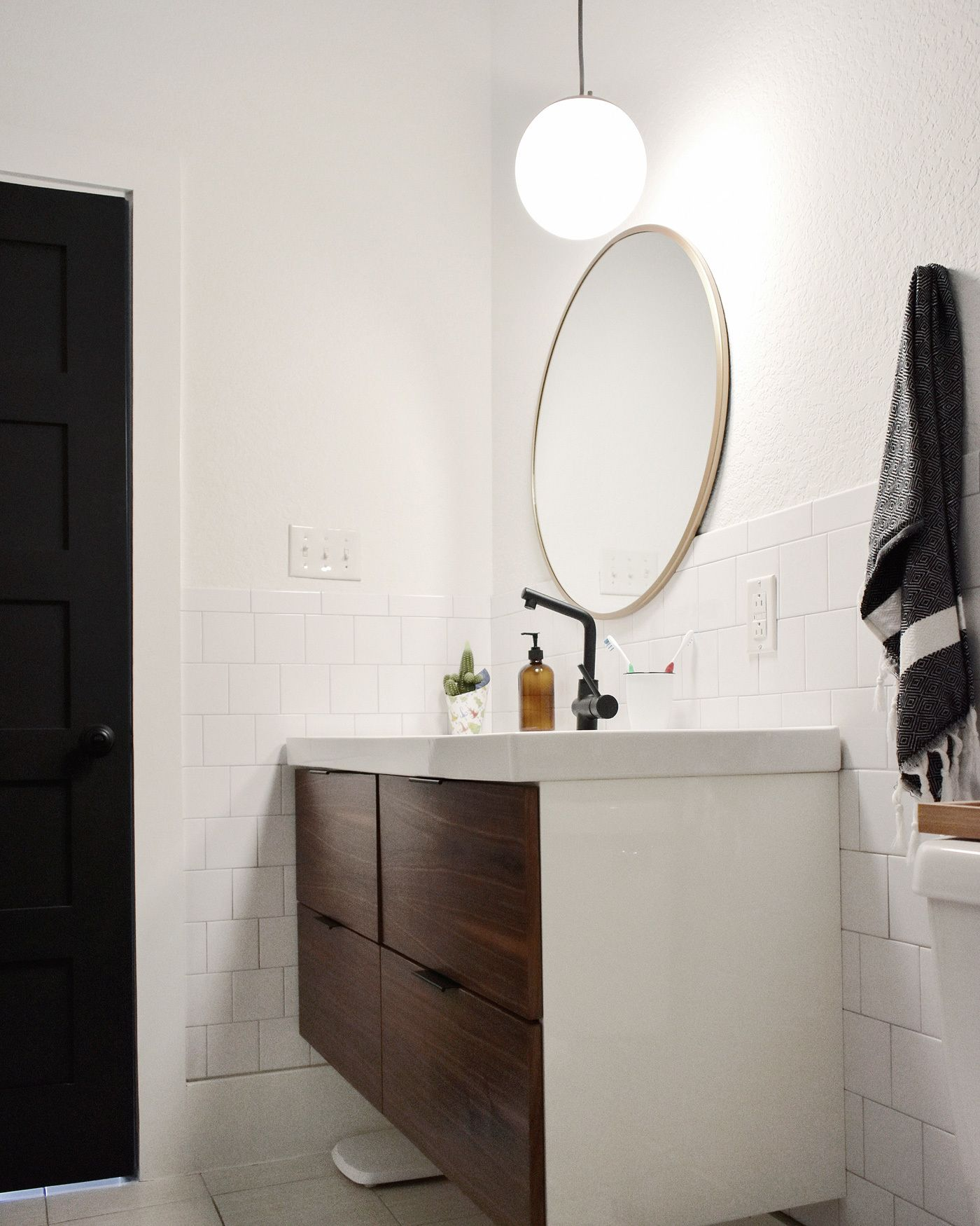 A Sagging Vanity Solution + Make Your Own Walnut Veneer!  Custom