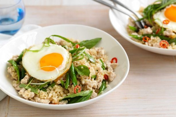 Holy basil chicken thai fried rice recipe pinterest basil holy basil chicken thai fried rice recipe pinterest basil chicken fried rice and rice ccuart Gallery