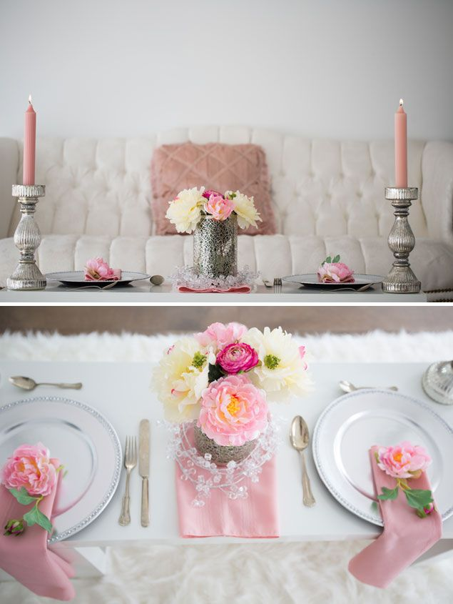 Pink and White Wedding Details