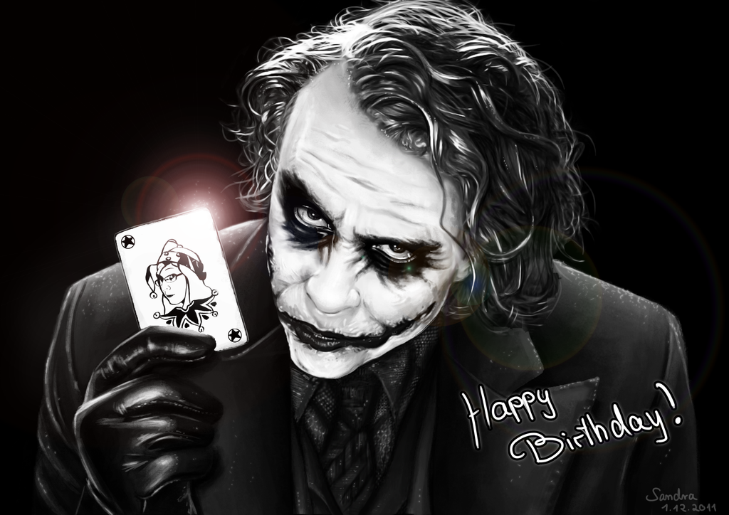 Joker Portrait Birthday Present By Sadako Xd On Deviantart Joker Happy Birthday Quotes Funny Best Joker Quotes