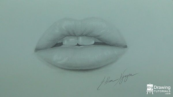 How To Draw Realistic Lips Glossy Lips Http