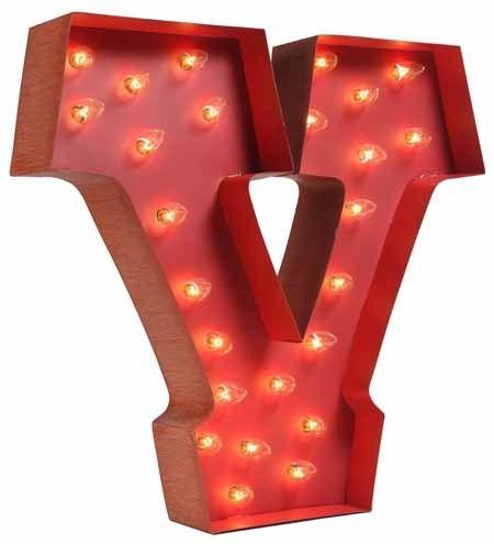 "Letter ""V"" 24"" x 4"" Price $258.00 #light #lighting #Collierwest"