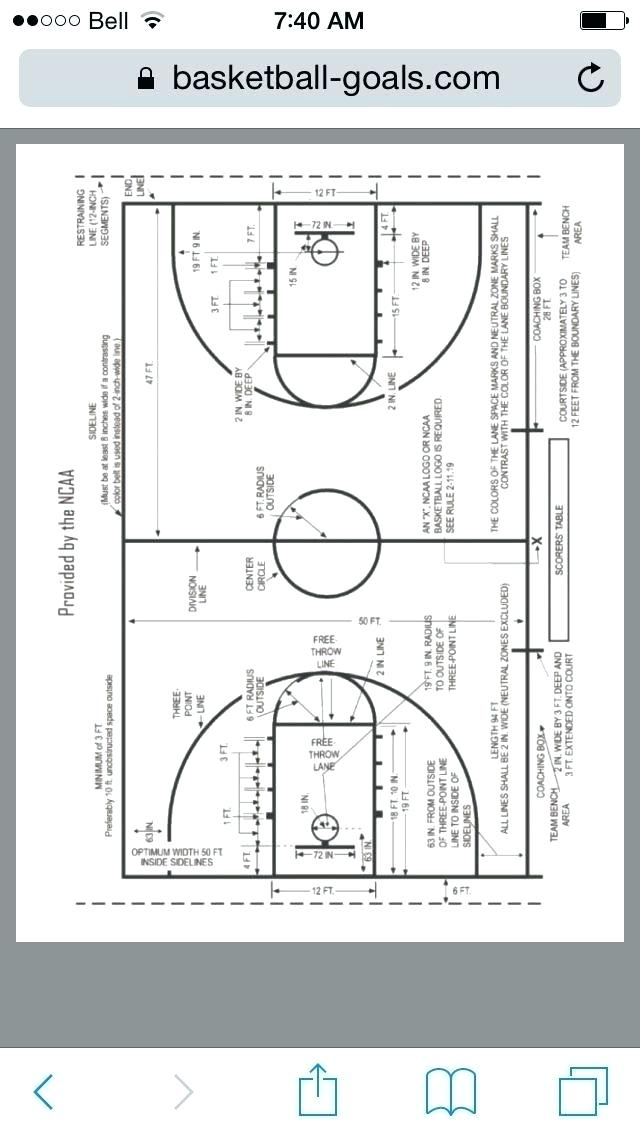 Basketball Court Dimensions For Backyard Diagrams Of Basketball
