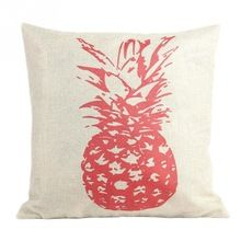 New Style Retro Vintage Throw Home Decorative Cotton Linen Pillow Case Cushion Cover Pink/ Sketch Pineapple(China (Mainland))