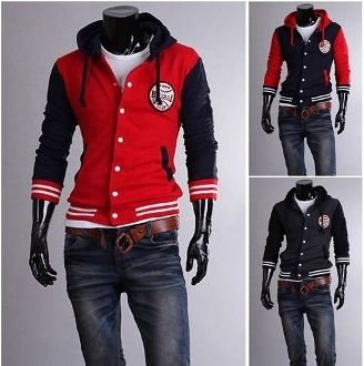 Men's Baseball Hooded Letterman Jacket | Styles : Men | Pinterest
