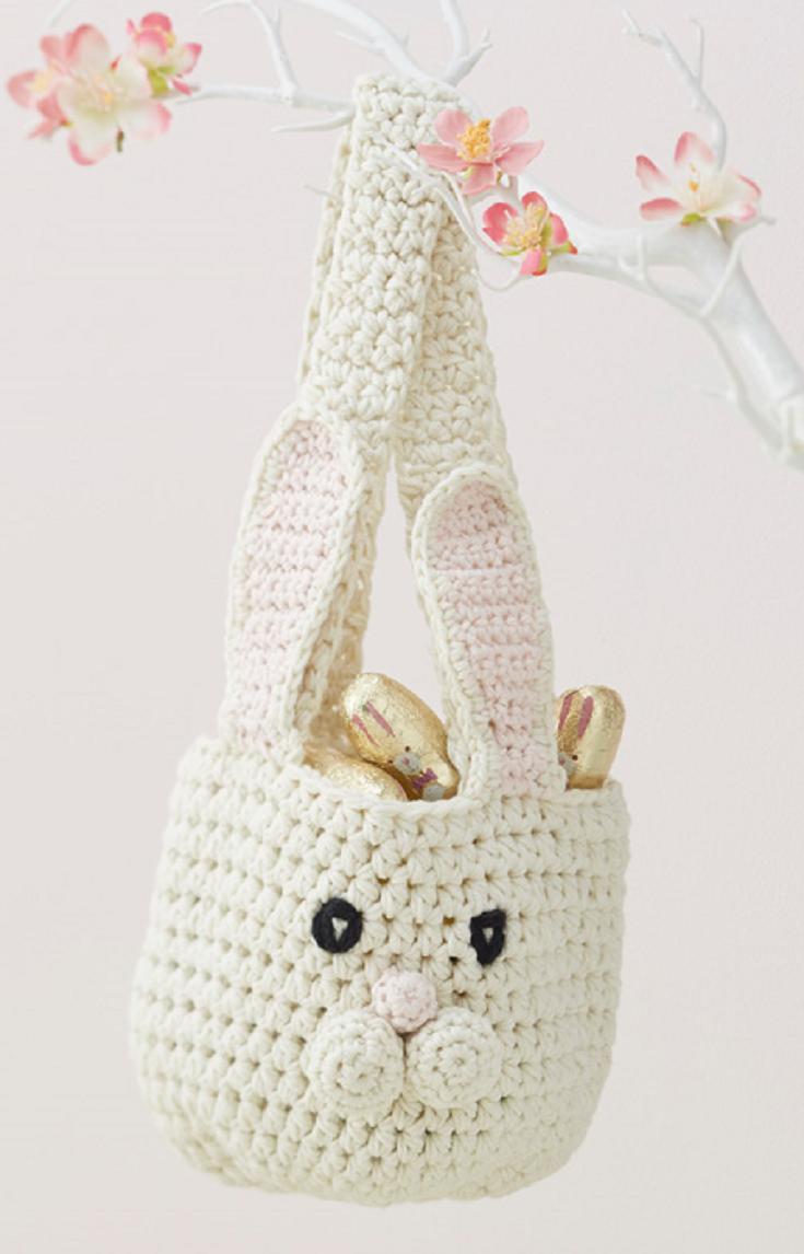Bunny Basket Crochet Pattern   Trapillo, Bolsos y Tejido