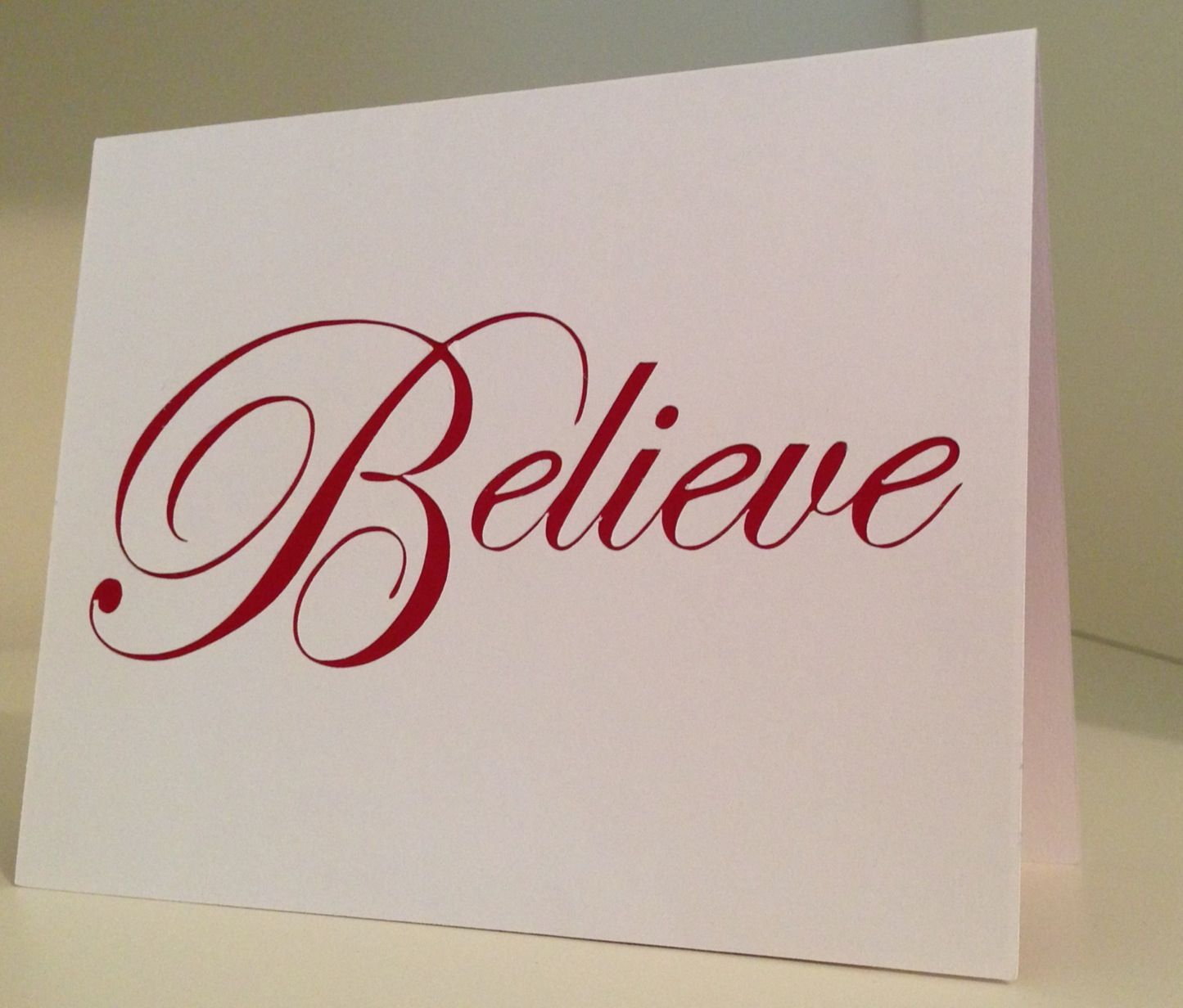 Believe Christmas Card cut using silhouette cameo. | My Cards ...