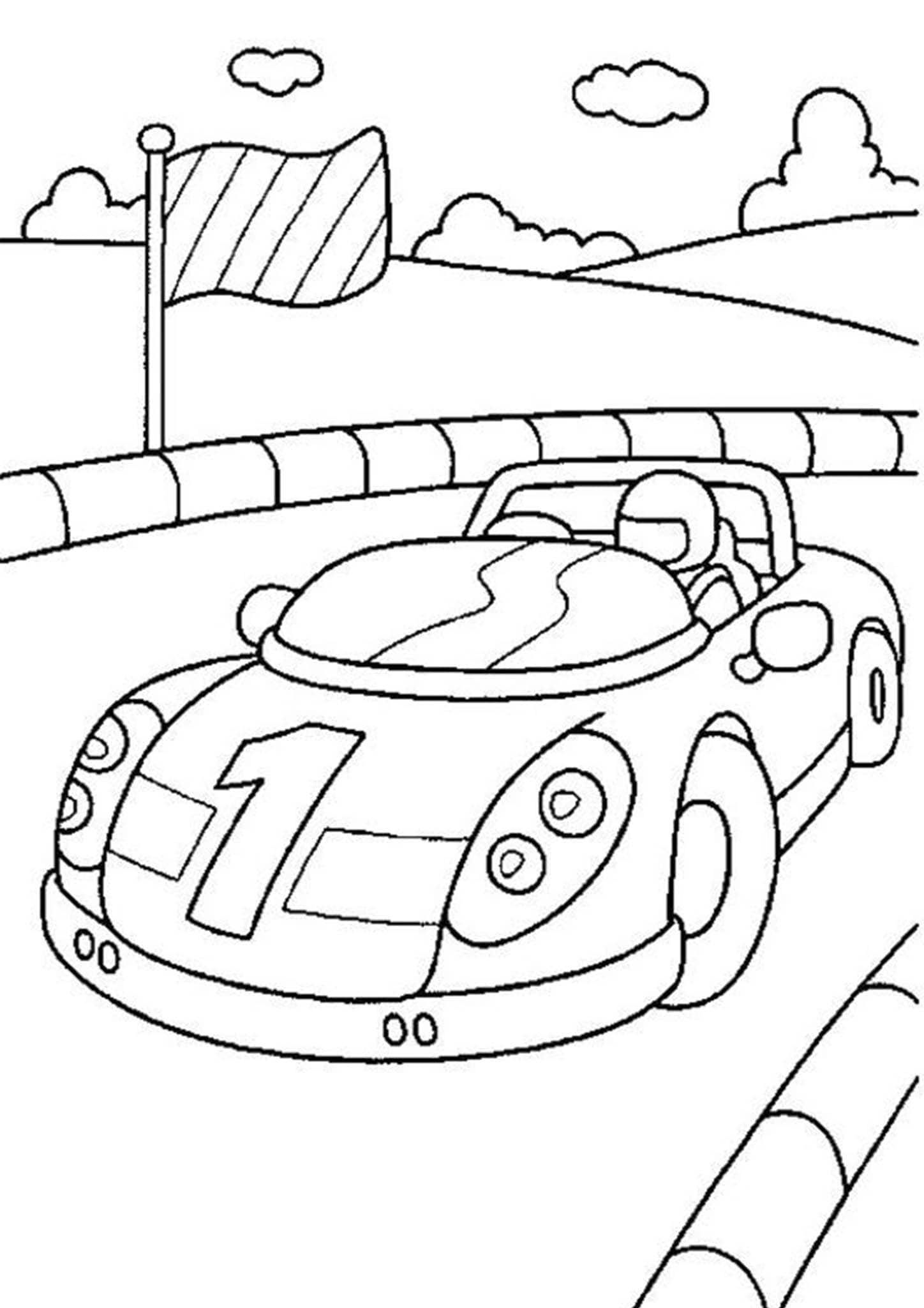Free & Easy To Print Race Car Coloring Pages  Race car coloring