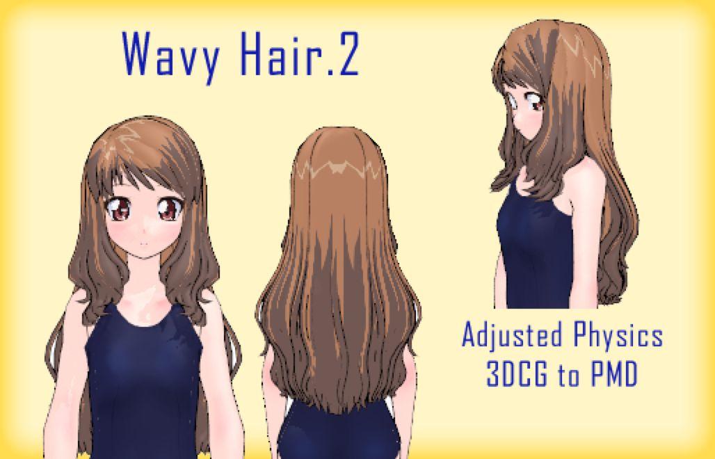 Mmd Wavy Hair2 Dl By Mmdfakewings18 On At Deviantart Mmd Wavy