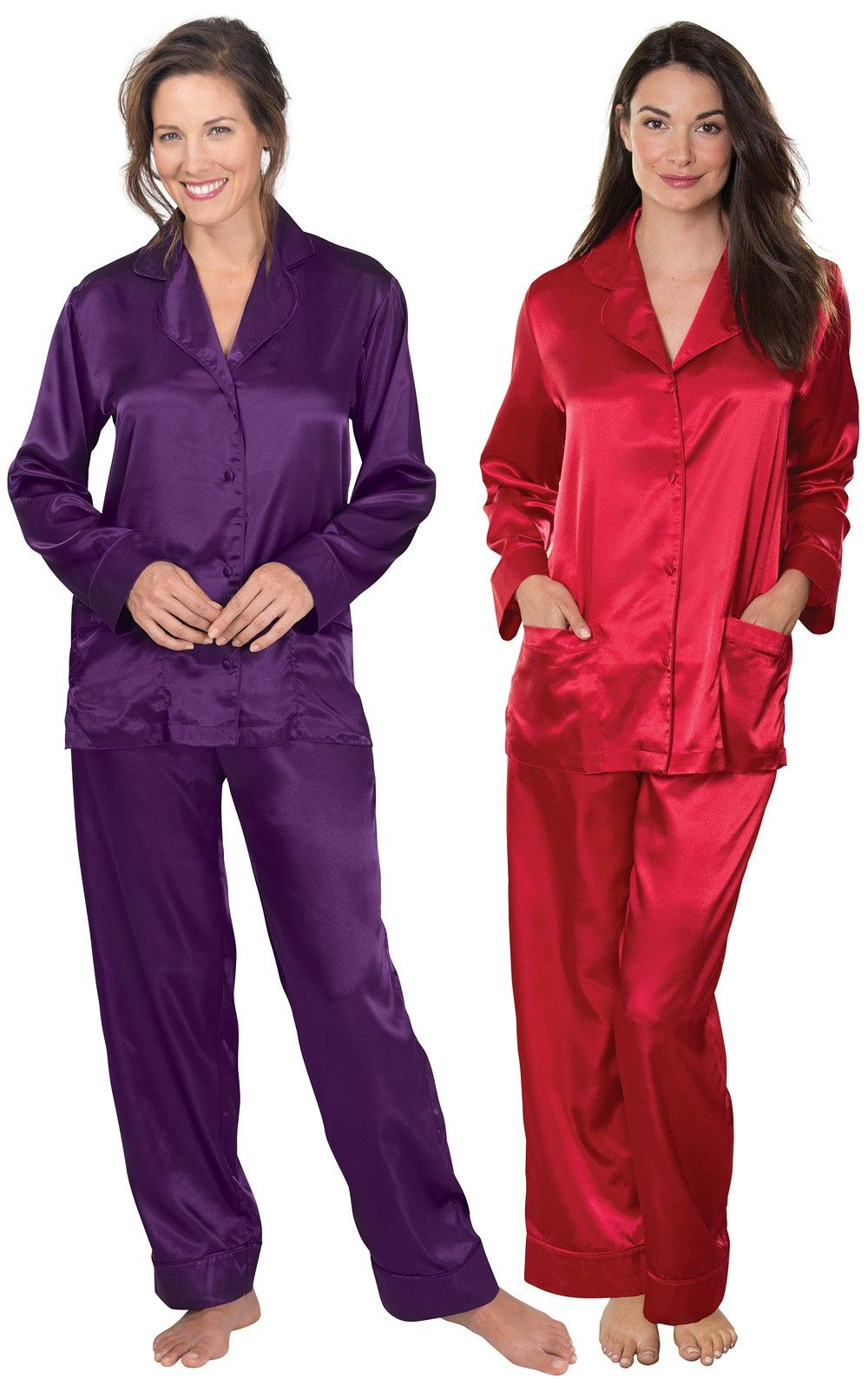 f9a685993f Ruby   Plum Satin Pajamas