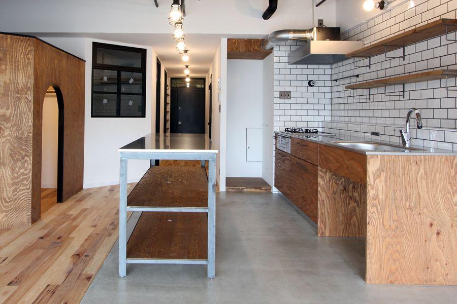 Kitchen Counter Table 2020 キッチンアイデア 合板キッチン