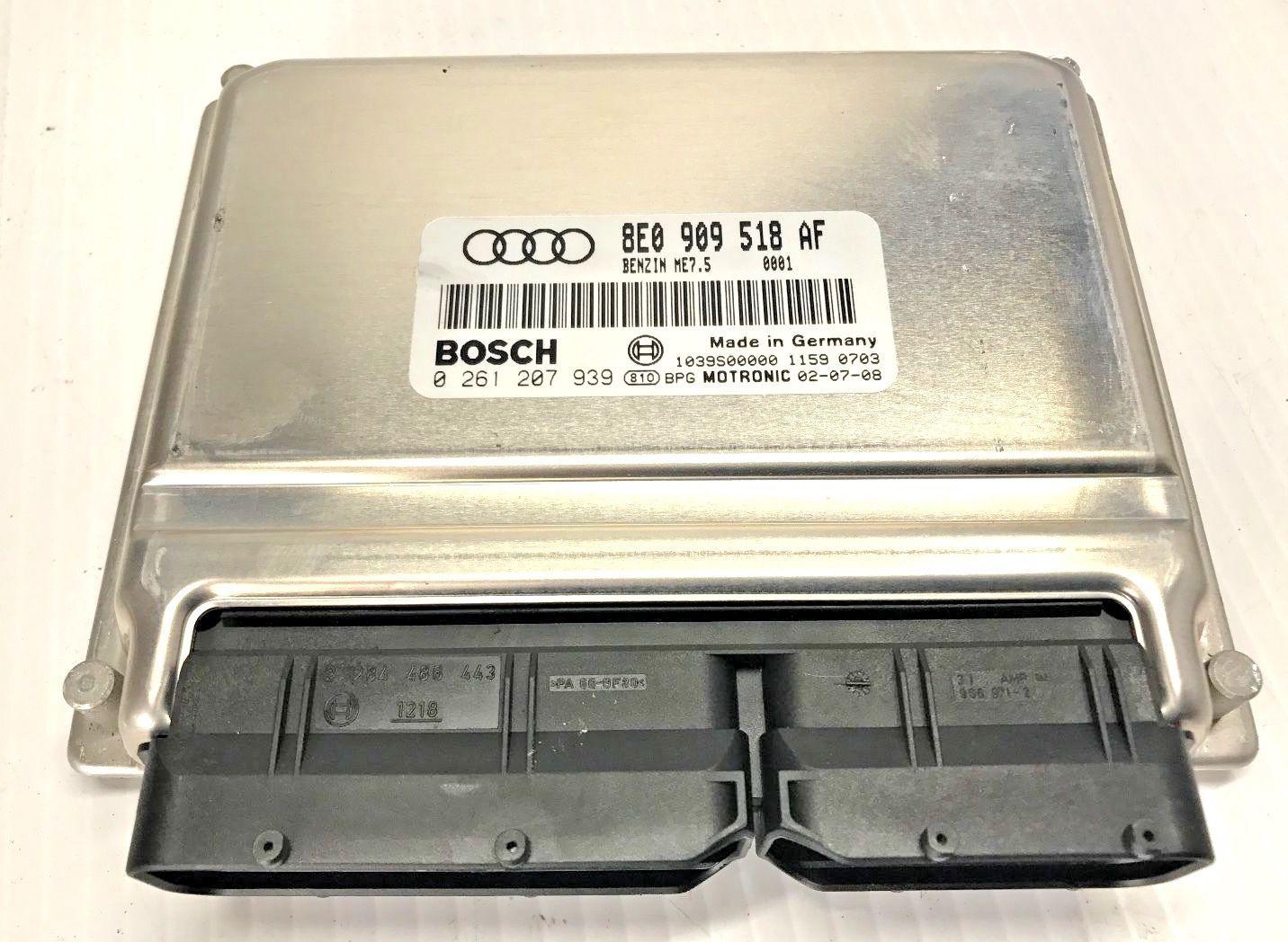 02-05 Audi A4 1.8l Turbo Engine Computer Module Ecm 8e0 909 518 Af ...