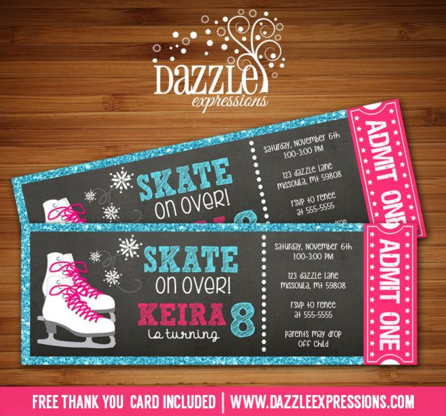 Free Printable Invitations Ice Skating Party