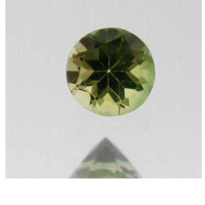 "Natural Green Tourmaline - Round Facet - 0.42 ct - 0.18"" (4.58 mm) x 0.17"" (4.54 mm) x 0.12"" (3.3 mm)"