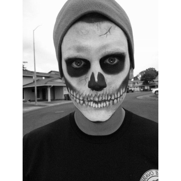 Skeleton Makeup Liked On Polyvore Featuring Beauty Products And Makeup Boy Halloween Makeup Mens Halloween Makeup Halloween Makeup Men Beard