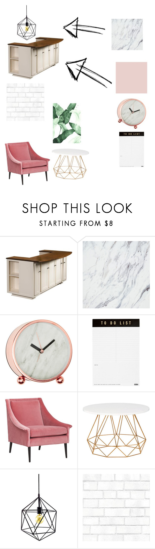 """""""Untitled #33"""" by bellaholley ❤ liked on Polyvore featuring interior, interiors, interior design, home, home decor, interior decorating, DutchCrafters, kikki.K, Vance and Tempaper"""