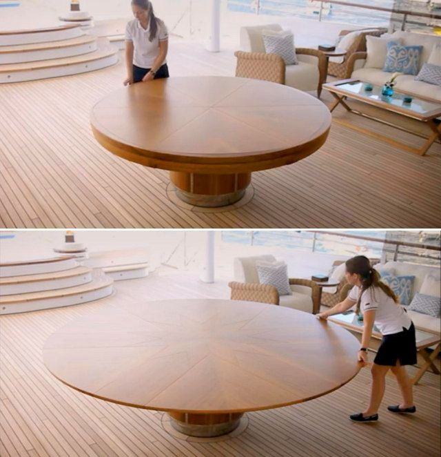 It S Like Magic Beautifully Expanding Wooden Table Geekologie
