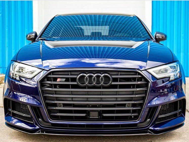 Navarra Looks Great In Combination With The Black Optics Pack Would Love To See It On The Rs3 New S3 Sedan Navarrablue Audi Q Audi Audi Rs