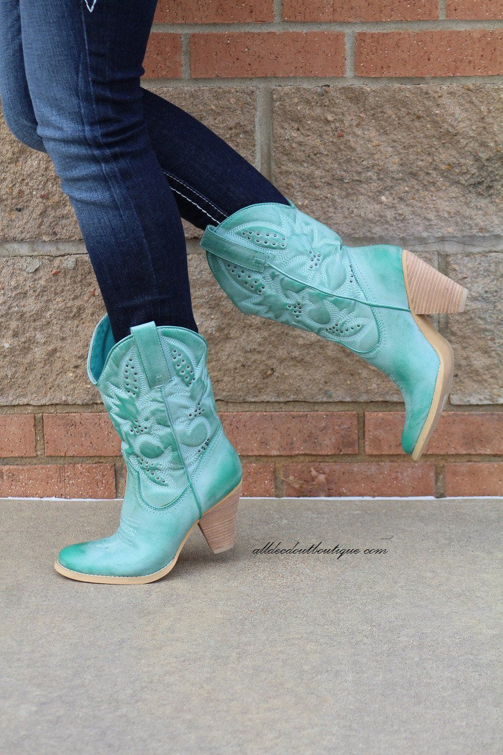 88d857d2aa1 Very Volatile | Denver Cowgirl Boot Aqua Blue | Cowgirl Boots ...