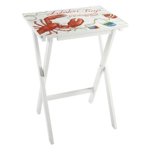 One of my favorite discoveries at ChristmasTreeShops.com: Coastal Lobster Folding Tray Table