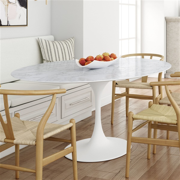 Saarinen Tulip Oval Marble Dining Table In 2020 Saarinen Dining Table Dining Table Marble Oval Marble Dining Tables