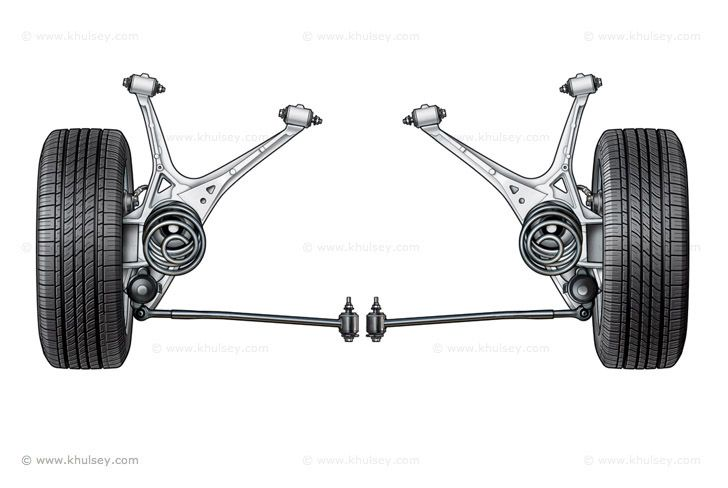 Car Suspension Stock Illustrations Car Illustration