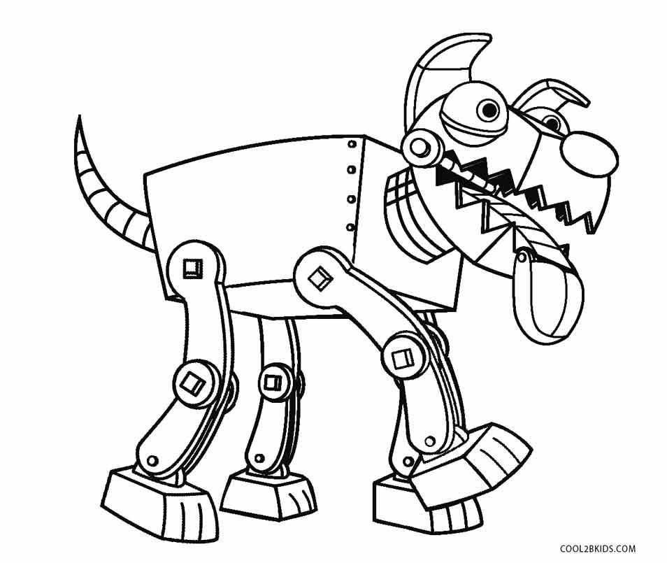 Free Robot Dog Coloring Page Dog Coloring Page