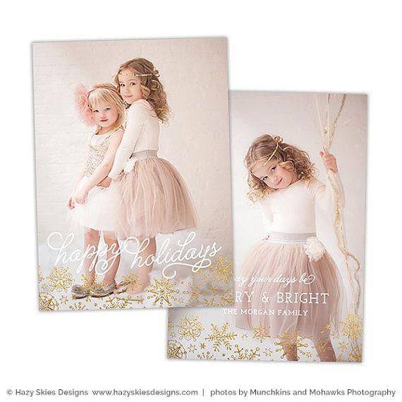 Christmas Card Template for Photographers Christmas Photo - card templates for pographers