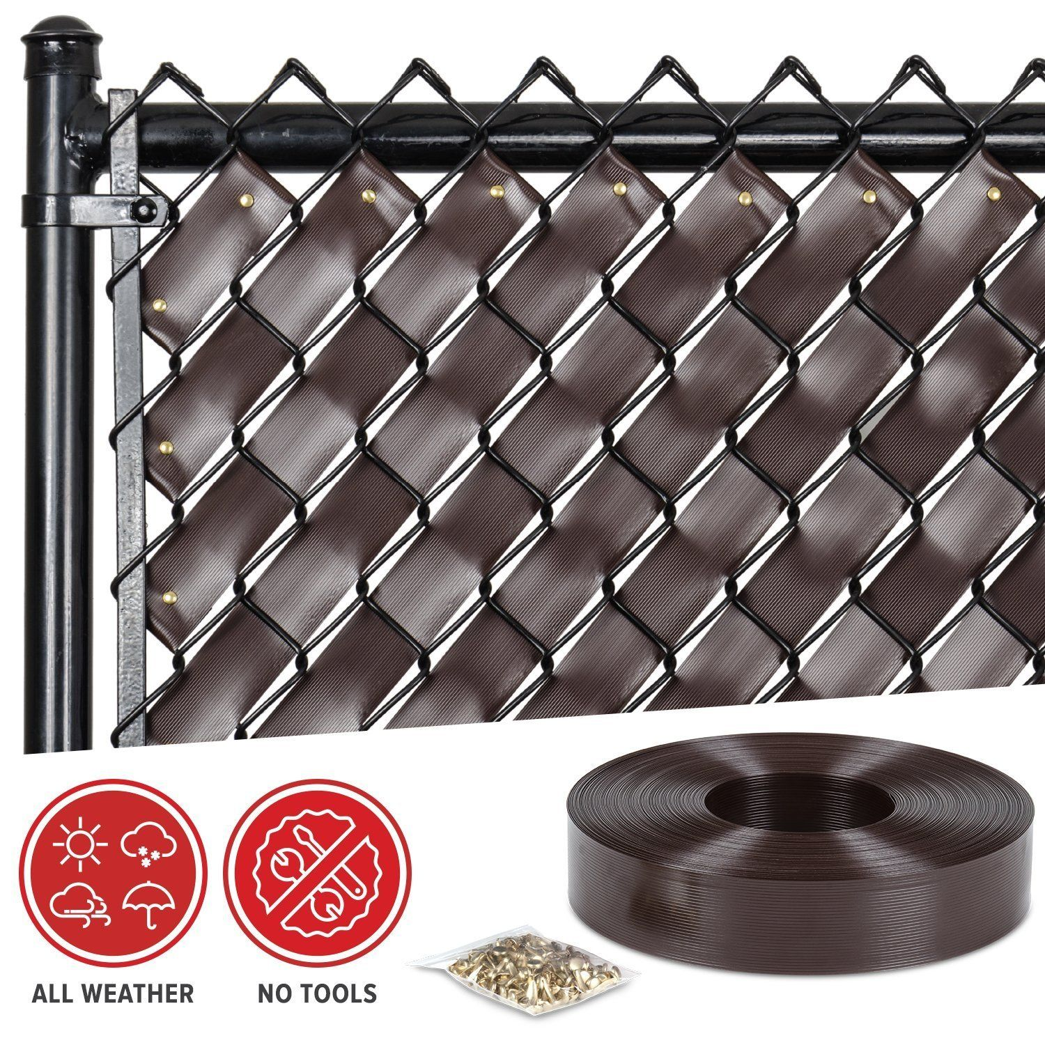 Amazon Com Chain Link Fence Weave Chocolate Brown