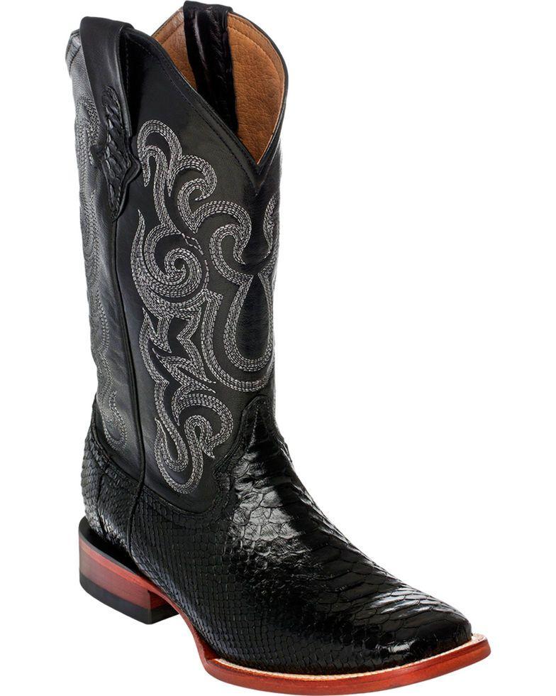 51b3c8c5842 Ferrini Men's Python Cowboy Boots - Square Toe | Boots men | Cowboy ...
