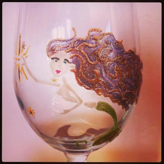 Hand painted Mermaid custom creation <3 Malibu Suns™
