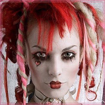 cool clown hair  clown hair gothic eye makeup beautiful