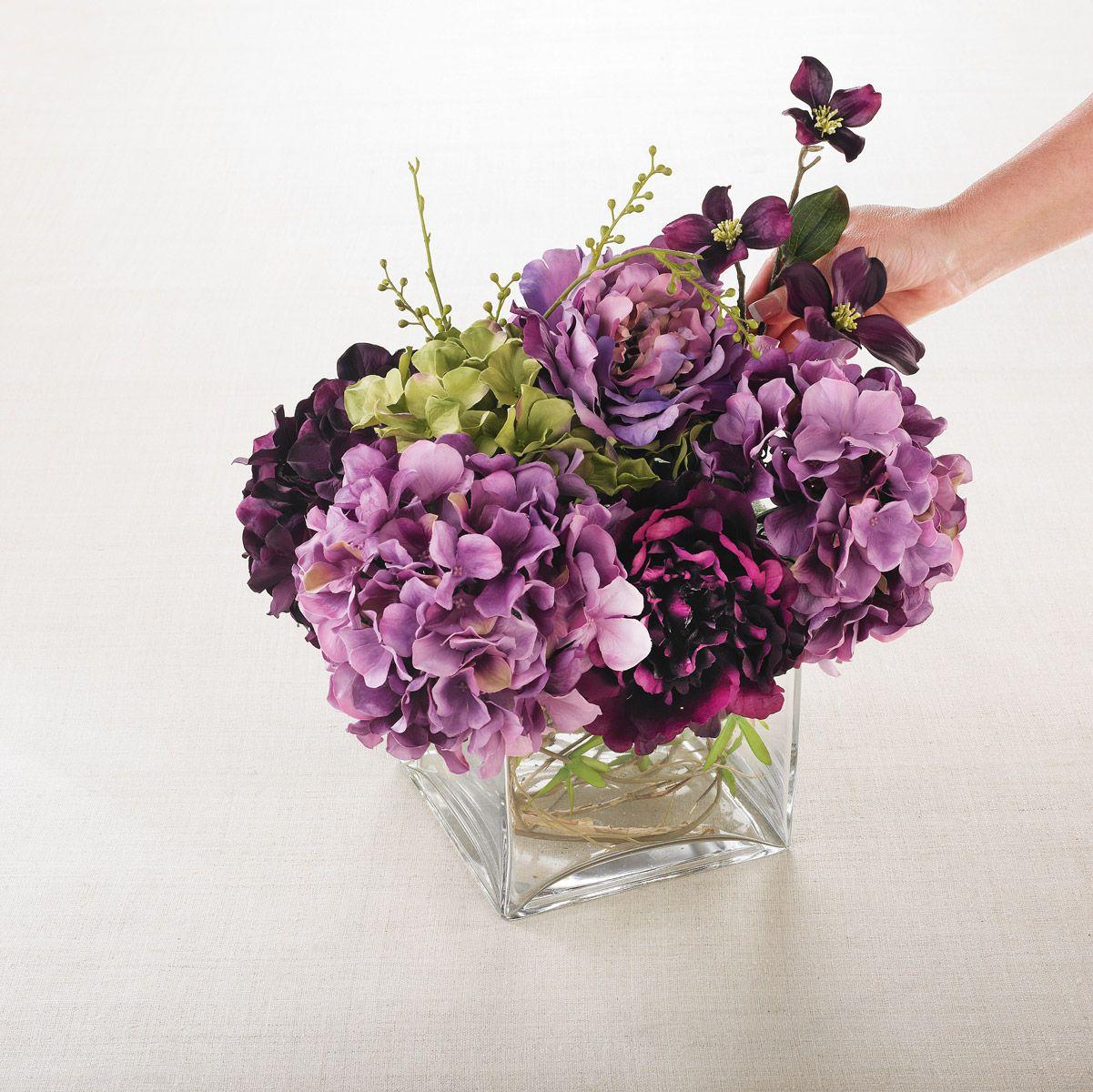 Fake flower arrangement Flower arrangements diy, Fake