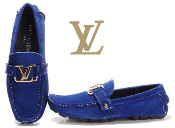 Louis Vuitton Suede Monte Carlo Loafer in Marine Delicate $690